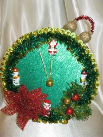 Часы новогодние своими руками фото